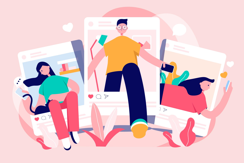 Visuels de publications sur les réseaux sociaux