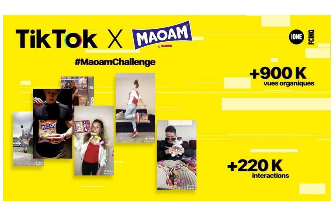 affiche du challenge maoam de haribo sur tiktok